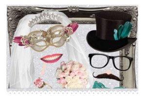 Photo booth Requisiten Hochzeit