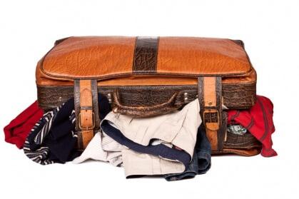 Kleidung aus dem Rucksack
