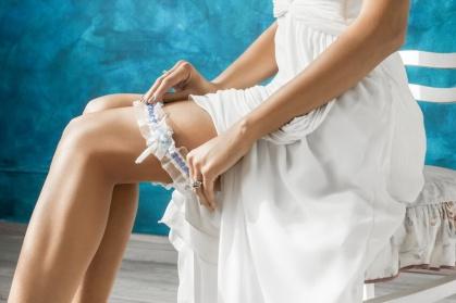 Braut und Strumpfband