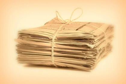 Tanz auf der Zeitung