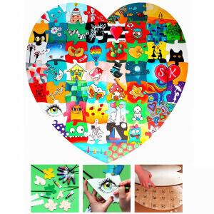 Holz Puzzle Herz als Hocheitsspiel