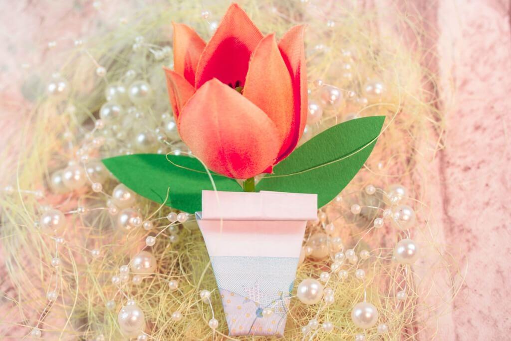 Blumentopf Faltanleitung