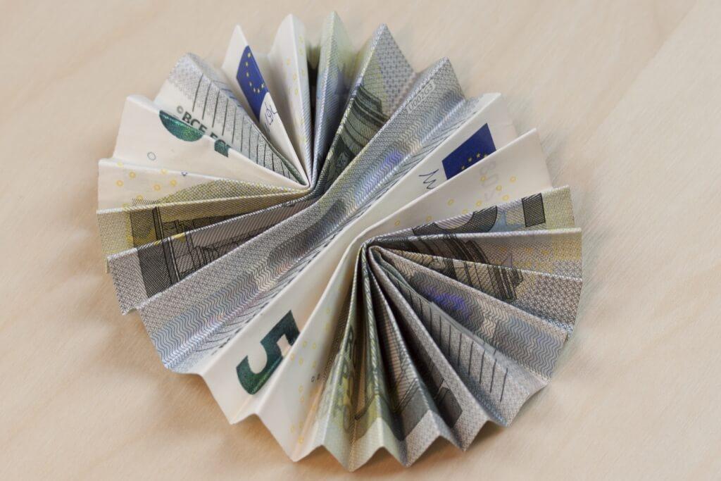 Hochzeitsgeschenk 5 euro scheine