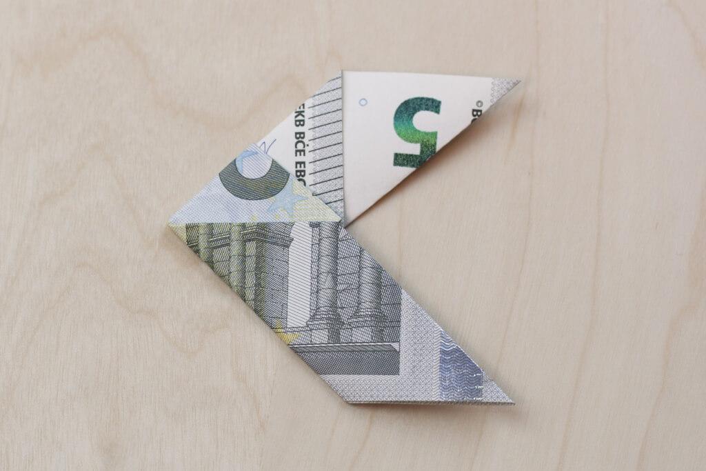 Der Fisch Geldschein Falten