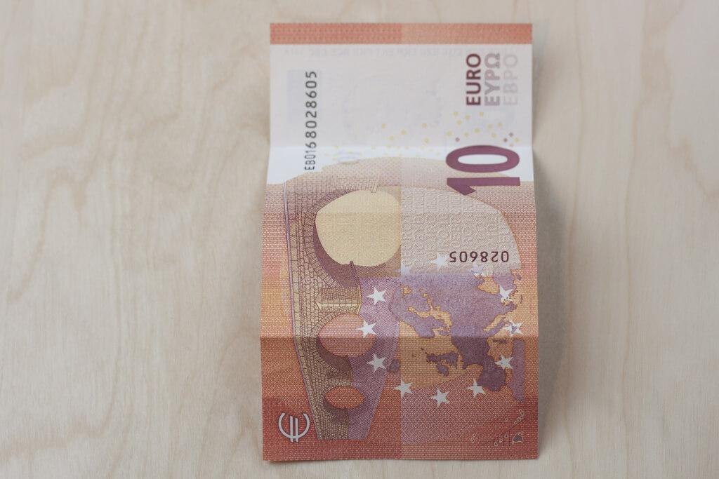 Glucksschwein Geldschein Falten