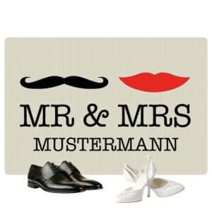 Fußmatte Mr Mrs